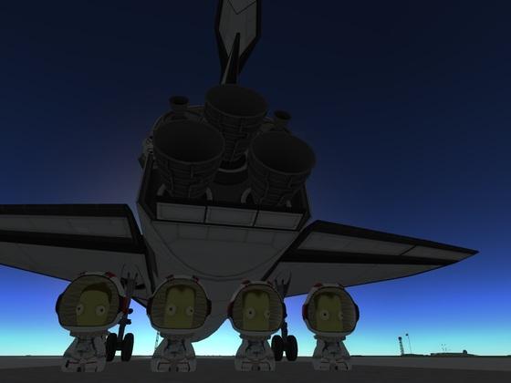 Space Shuttle Crew nach erfolgreicher Mission