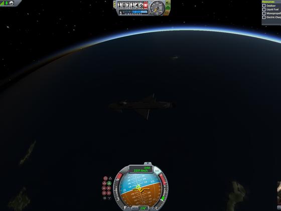 Orbitalanpassung um Deorbiting vorzubereiten