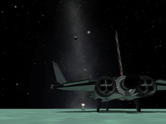 einmal Minmus und zurück mit dem Spaceplane