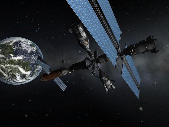 Besoffenes Andocken an Geostationäre Station