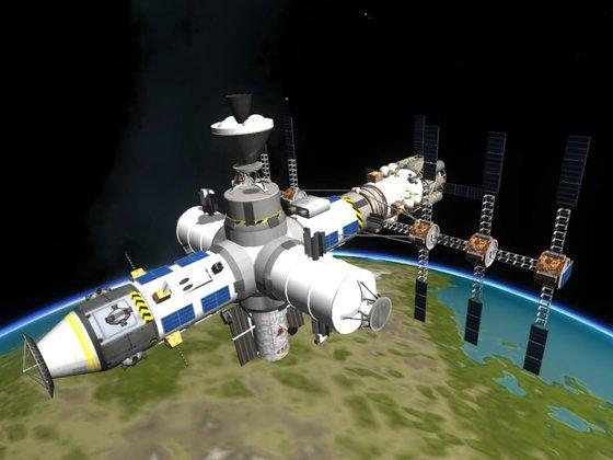 Meine erste Raumstation in der Umlaufbahn Kerbins