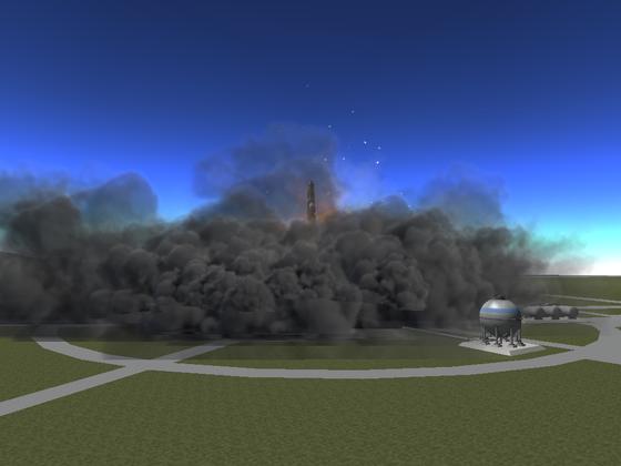 SO muss ein Raketenstart aussehen!