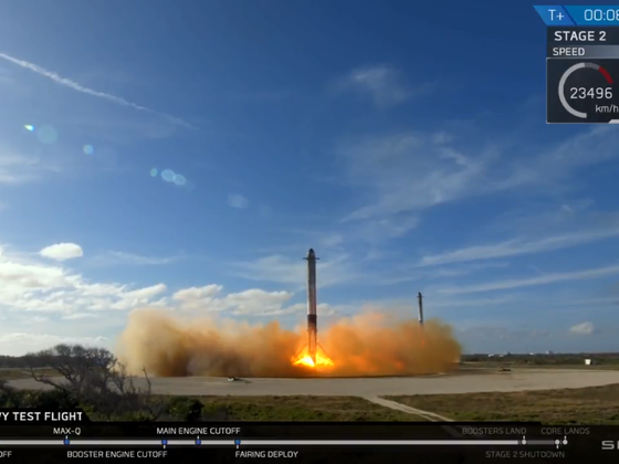 Falcon Heavy Booster Landing