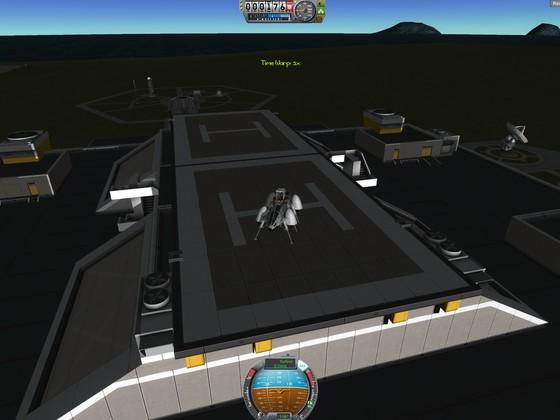 VTOL-Landung