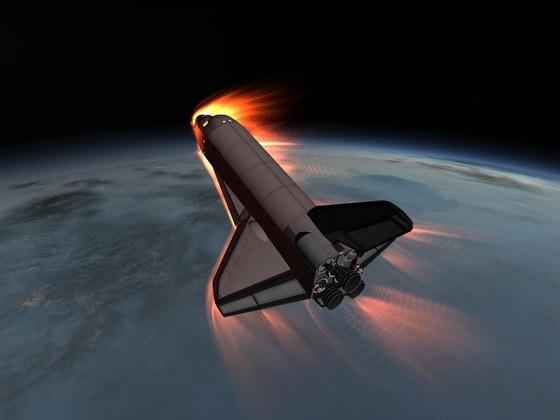 Stock Space Shuttle 1.2.2  Wiedereintritt