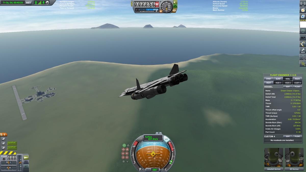 Dream Chaser Träger SSTO im Landeanflug
