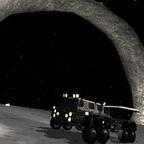 Mun-Truck am Mun-Arch