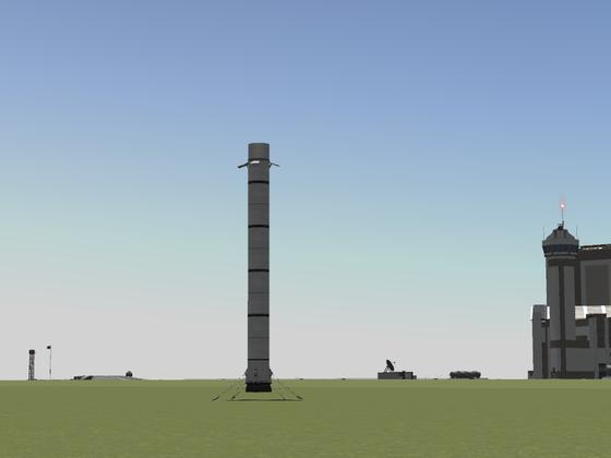 Falcon 9 - Hauptstufe nach Landung