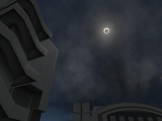 Sonnenfinsterniss auf dem KSP