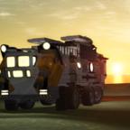 Mining Truck B, sunrise