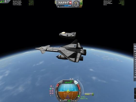 Dream Chaser vom Träger abgekopelt