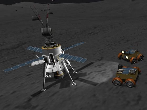 Erste Rover auf dem Mun