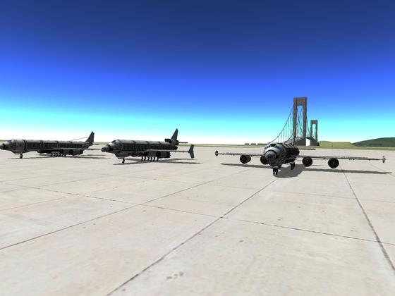 3 Flieger am Terminal