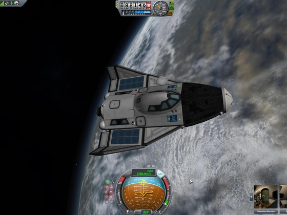 Mini-Shuttle im Orbit