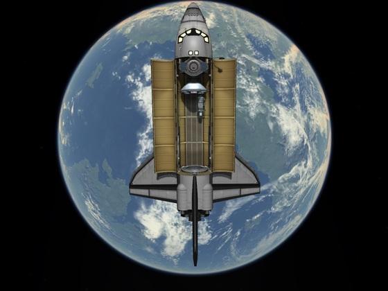 Stock Space Shuttle 1.2.2 beim Com-Sat aussetzen