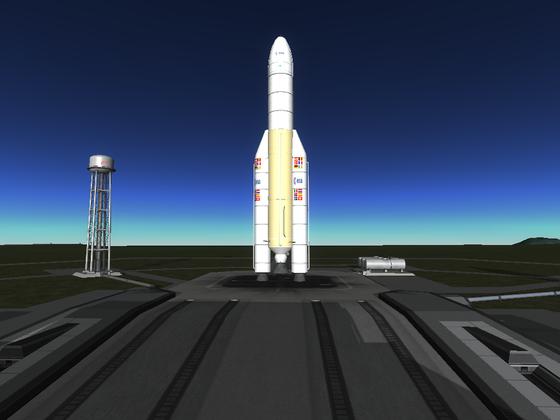 Ariane 5 mit großer Fairing