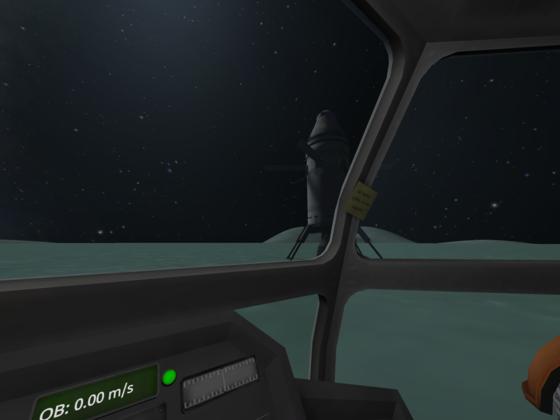 Sicht vom Rover auf Rückehr-Rakete.