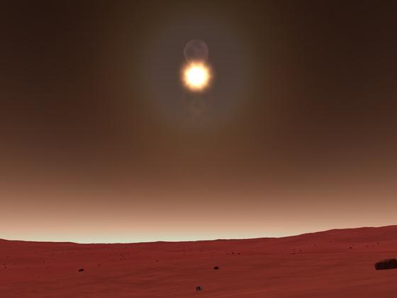 Fascination Kerbol System #1 - Kurz nach der (täglichen...) Sonnenfinsternis auf Duna