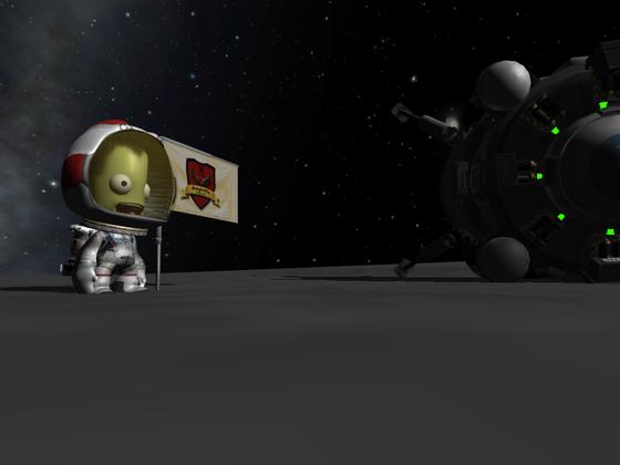 Allan's erste Mun Landung